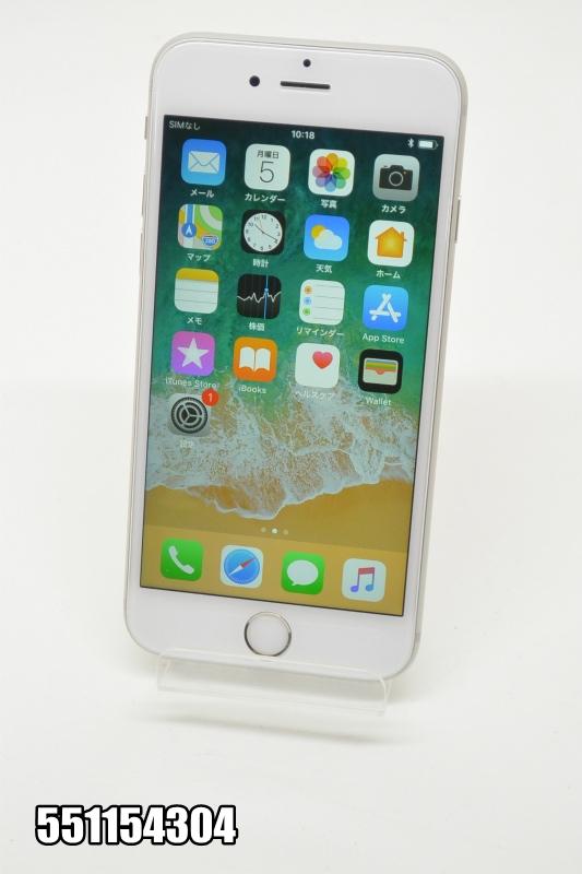 SIMフリー Apple iPhone 6s 16GB iOS11.4 シルバー MKT82LL/A 初期化済 【551154304】 【中古】【K20181106】