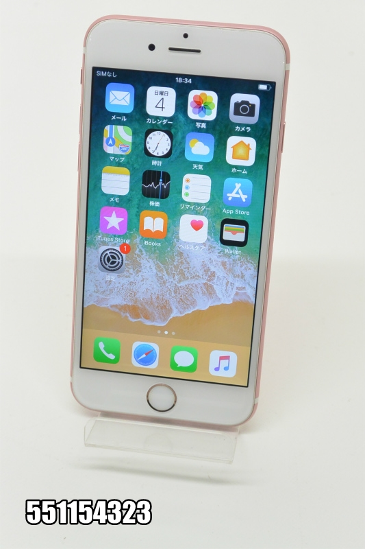 SIMフリー Apple iPhone 6s 16GB iOS11.4 ローズゴールド MKTA2LL/A 初期化済 【551154323】 【中古】【K20181106】