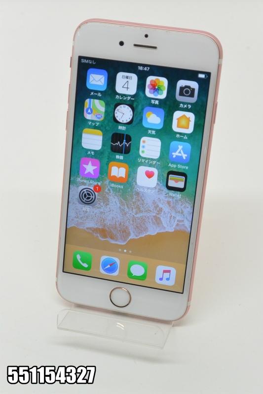SIMフリー Apple iPhone 6s 16GB iOS11.4 ローズゴールド MKQ82LL/A 初期化済 【551154327】 【中古】【K20181106】