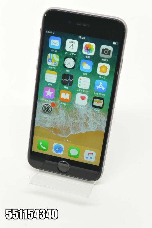 SIMフリー Apple iPhone 6s 16GB iOS11.4 スペースグレイ MKT72LL/A 初期化済 【551154340】 【中古】【K20181106】