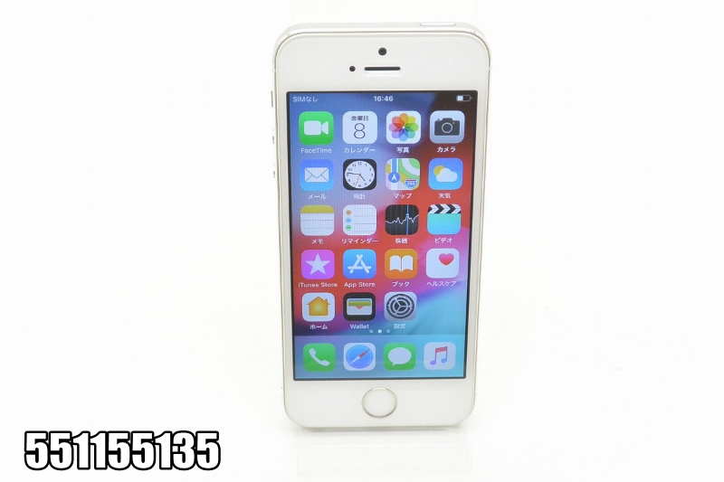 白ロム au Apple iPhone 5s 32GB iOS12.1.3 Silver ME336J/A 初期化済 【551155135】 【中古】【K20190214】