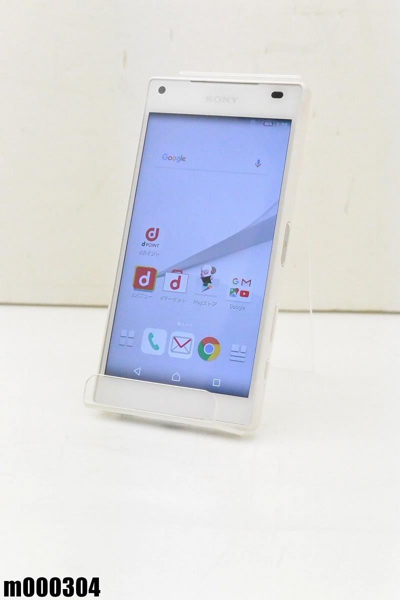 白ロム docomo SONY Xperia Z5 Compact 32GB Android6 ホワイト SO-02H 初期化済 【m000304】 【中古】【K20190306】