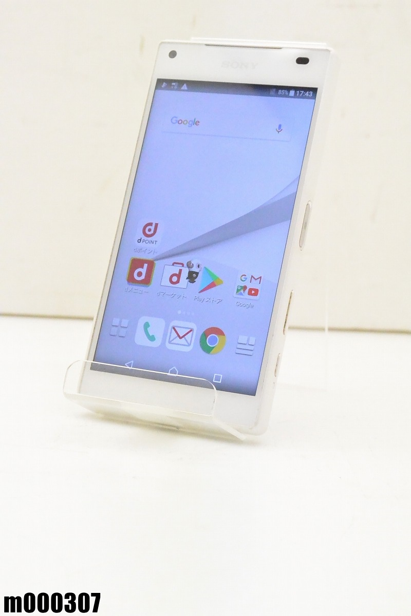 白ロム docomo SONY Xperia Z5 Compact 32GB Android7 ホワイト SO-02H 初期化済 【m000307】 【中古】【K20190306】
