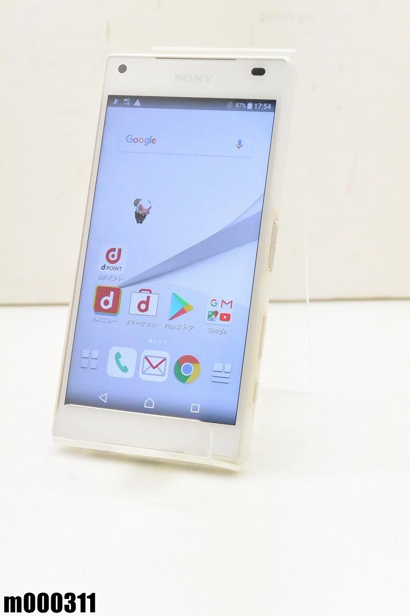 白ロム docomo SONY Xperia Z5 Compact 32GB Android7 ホワイト SO-02H 初期化済 【m000311】 【中古】【K20190306】