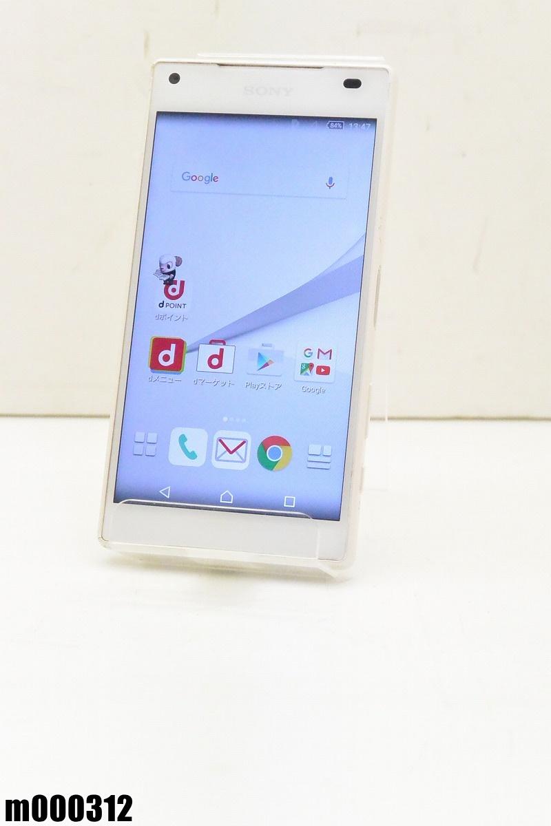 白ロム docomo SONY Xperia Z5 Compact 32GB Android5.1.1 ホワイト SO-02H 初期化済 【m000312】 【中古】【K20190306】
