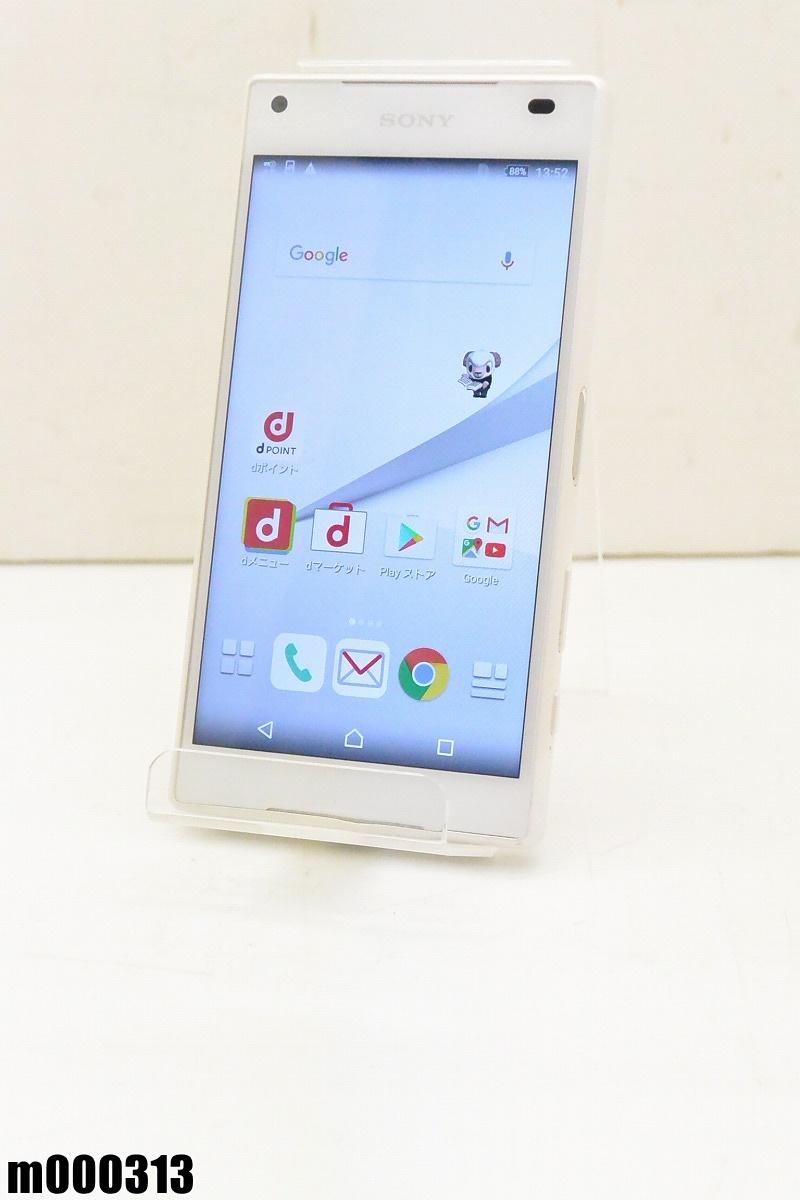 白ロム docomo SONY Xperia Z5 Compact 32GB Android6 ホワイト SO-02H 初期化済 【m000313】 【中古】【K20190306】