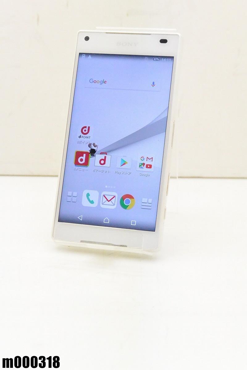白ロム docomo SONY Xperia Z5 Compact 32GB Android6 ホワイト SO-02H 初期化済 【m000318】 【中古】【K20190306】