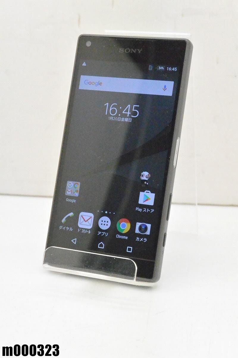 白ロム docomo SONY Xperia Z5 Compact 32GB Android6 グラファイトブラック SO-02H 初期化済 【m000323】 【中古】【K20190306】