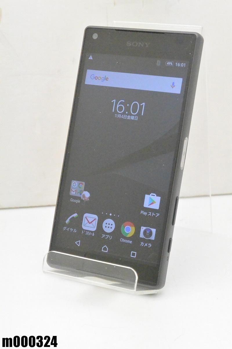 白ロム docomo SONY Xperia Z5 Compact 32GB Android6 グラファイトブラック SO-02H 初期化済 【m000324】 【中古】【K20190306】