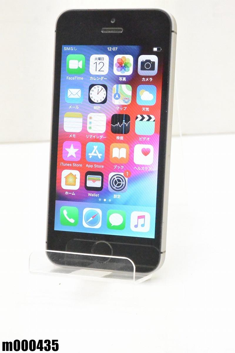 白ロム SIMロック解除済 Apple iPhone SE 64GB iOS12 Space Gray MLM62J/A 初期化済 【m000435】 【中古】【K20190314】