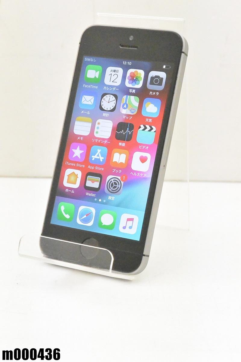 白ロム SIMロック解除済 Apple iPhone SE 64GB iOS12 Space Gray MLM62J/A 初期化済 【m000436】 【中古】【K20190314】