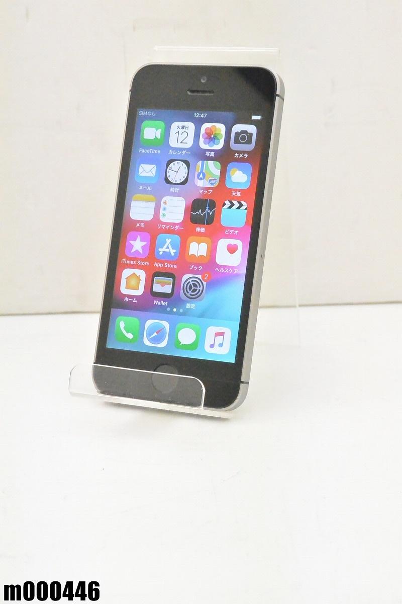 白ロム SIMロック解除済 Apple iPhone SE 64GB iOS12.1 Space Gray MLM62J/A 初期化済 【m000446】 【中古】【K20190314】