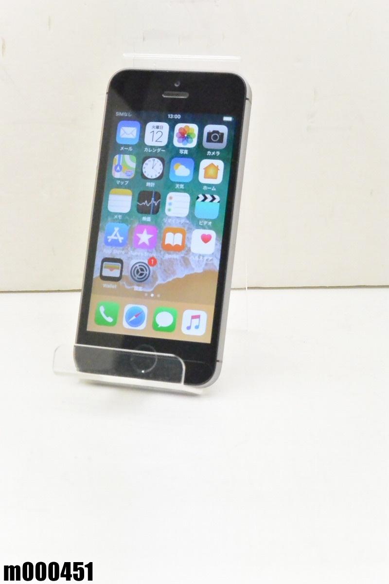 白ロム SIMロック解除済 Apple iPhone SE 64GB iOS11.4.1 Space Gray MLM62J/A 初期化済 【m000451】 【中古】【K20190314】