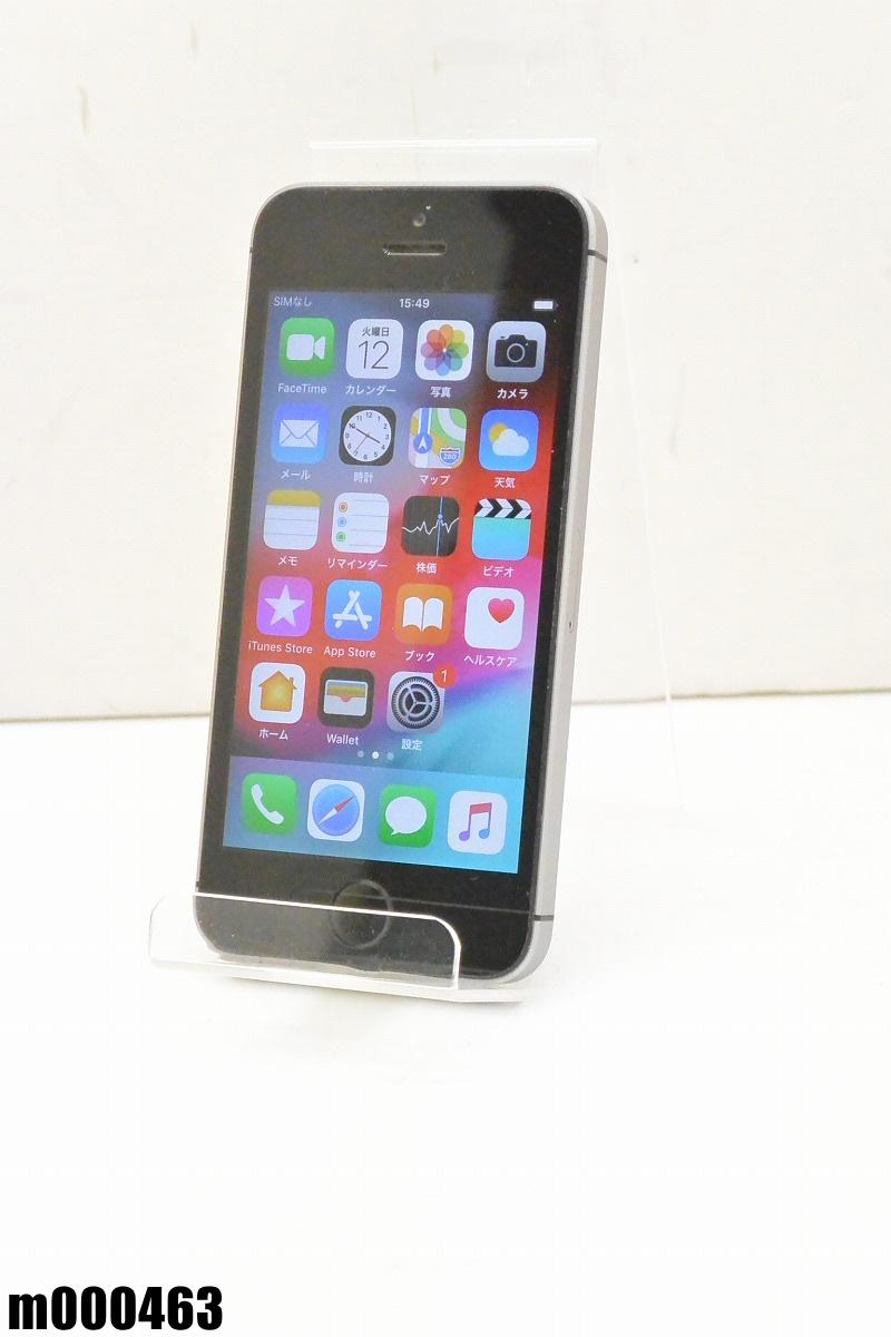 白ロム SIMロック解除済 Apple iPhone SE 64GB iOS12.0.1 Space Gray MLM62J/A 初期化済 【m000463】 【中古】【K20190314】