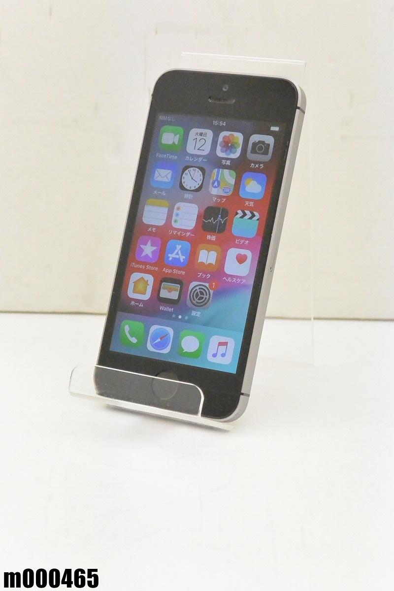 白ロム SIMロック解除済 Apple iPhone SE 64GB iOS12 Space Gray MLM62J/A 初期化済 【m000465】 【中古】【K20190314】