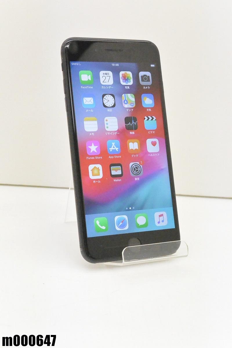 白ロム au Apple iPhone 7 Plus 32GB iOS12.1.3 Black NNR92J/A 初期化済 【m000647】 【中古】【K20190329】