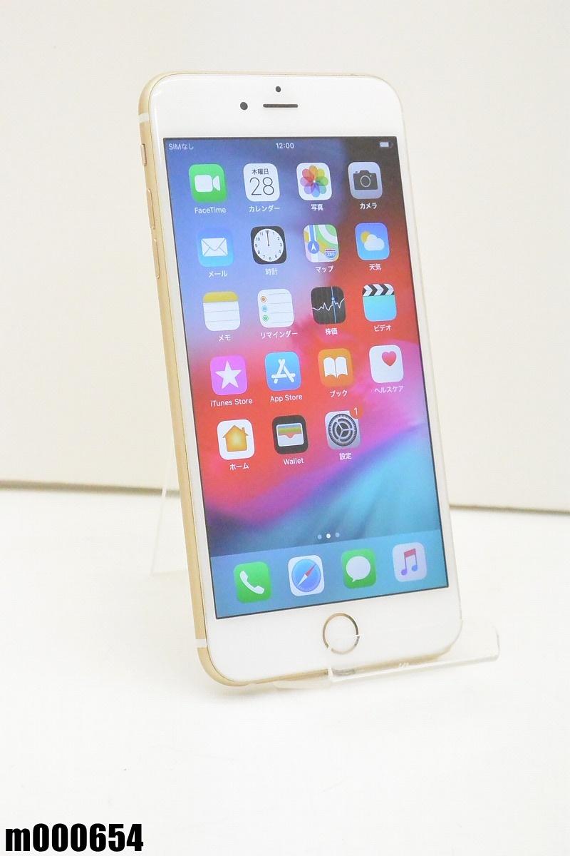 白ロム SIMロック解除済 Apple iPhone 6s Plus 64GB iOS12.1.3 Gold MKU82J/A 初期化済 【m000654】 【中古】【K20190329】