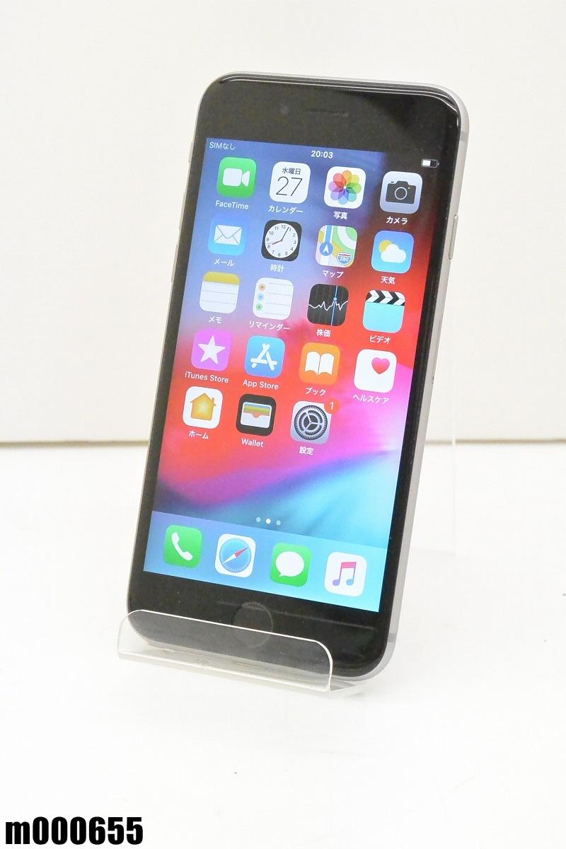 白ロム SIMロック解除済 Apple iPhone 6s 64GB iOS12.1.3 Space Gray NKQN2J/A 初期化済 【m000655】 【中古】【K20190329】