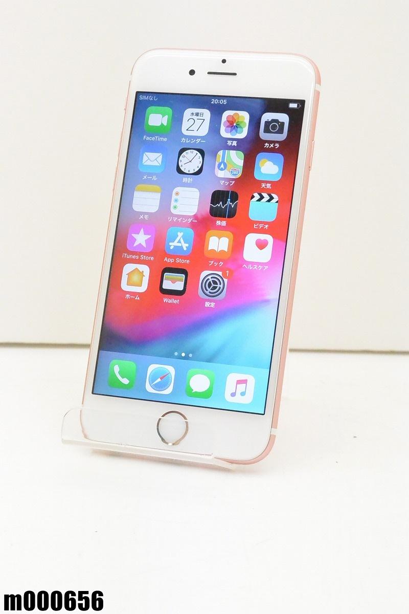 白ロム SIMロック解除済 Apple iPhone 6s 64GB iOS12.1.2 Rose Gold MKQR2J/A 初期化済 【m000656】 【中古】【K20190329】