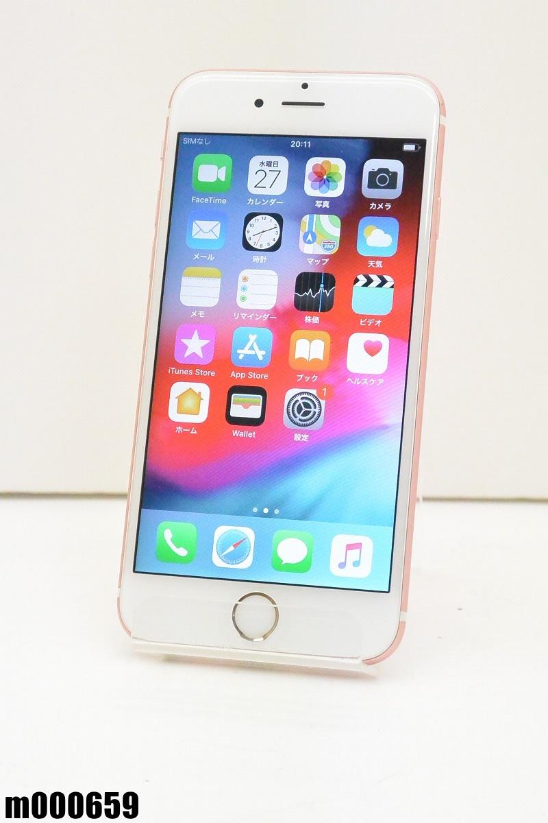 白ロム SIMロック解除済 Apple iPhone 6s 64GB iOS12.1.3 Rose Gold MKQR2J/A 初期化済 【m000659】 【中古】【K20190329】