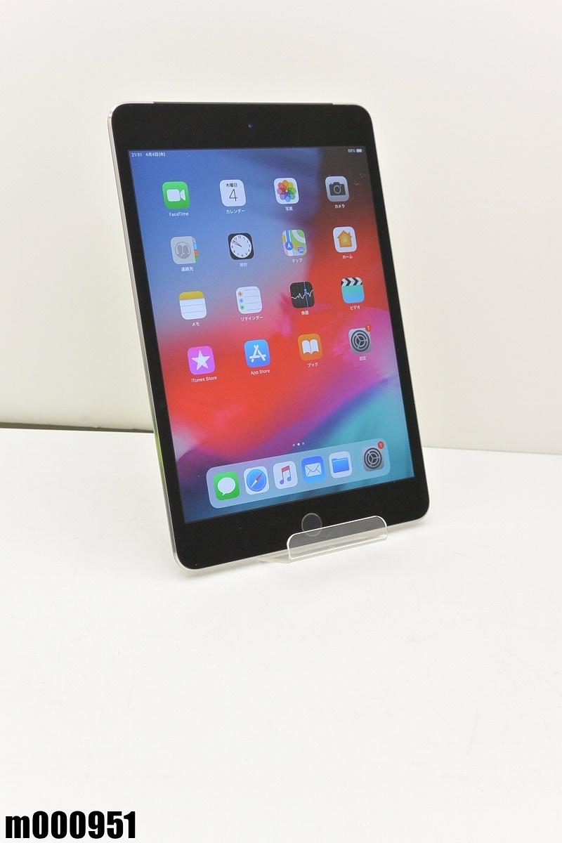 白ロム au Apple iPad mini 4+Cellular 64GB iOS12.1.4 Space Gray MK722J/A 初期化済 【m000951】 【中古】【K20190409】