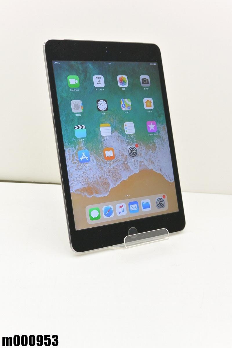 白ロム au Apple iPad mini 4+Cellular 64GB iOS11.4.1 Space Gray MK722J/A 初期化済 【m000953】 【中古】【K20190409】
