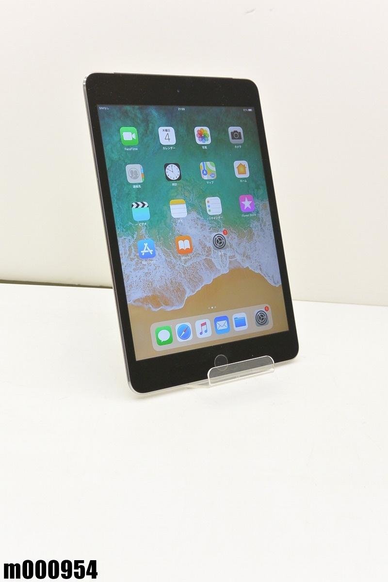 白ロム au Apple iPad mini 4+Cellular 64GB iOS11.4.1 Space Gray MK722J/A 初期化済 【m000954】 【中古】【K20190409】