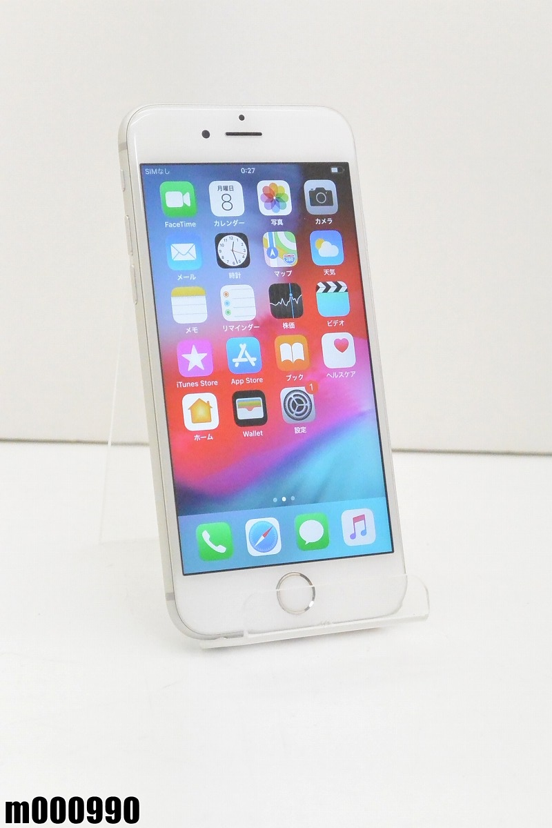 白ロム au Apple iPhone 6s 16GB iOS12.2 Silver MKQK2J/A 初期化済 【m000990】 【中古】【K20190410】