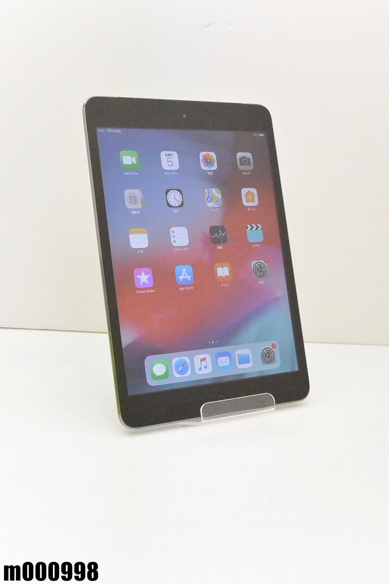 白ロム au Apple iPad mini 2+Cellular 64GB iOS12.2 スペースグレイ ME828J/A 初期化済 【m000998】 【中古】【K20190410】