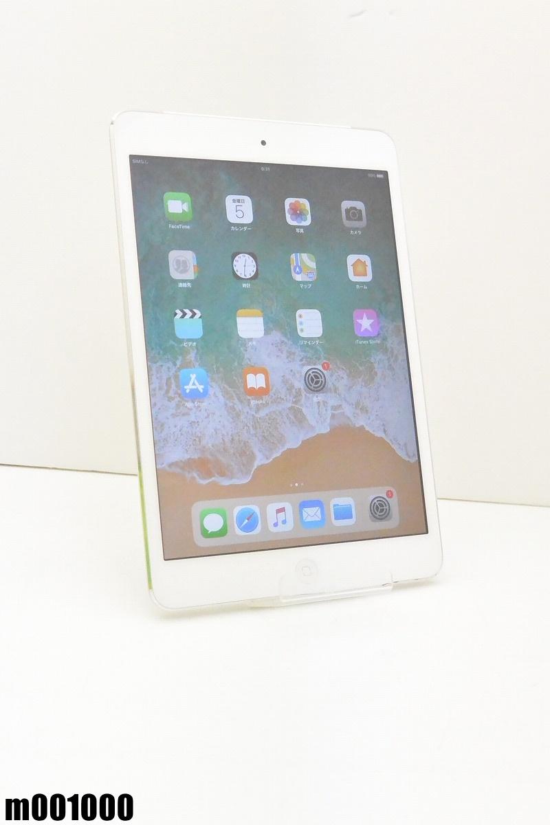 白ロム docomo Apple iPad mini 2+Cellular 64GB iOS11.0.3 シルバー ME832J/A 初期化済 【m001000】 【中古】【K20190410】