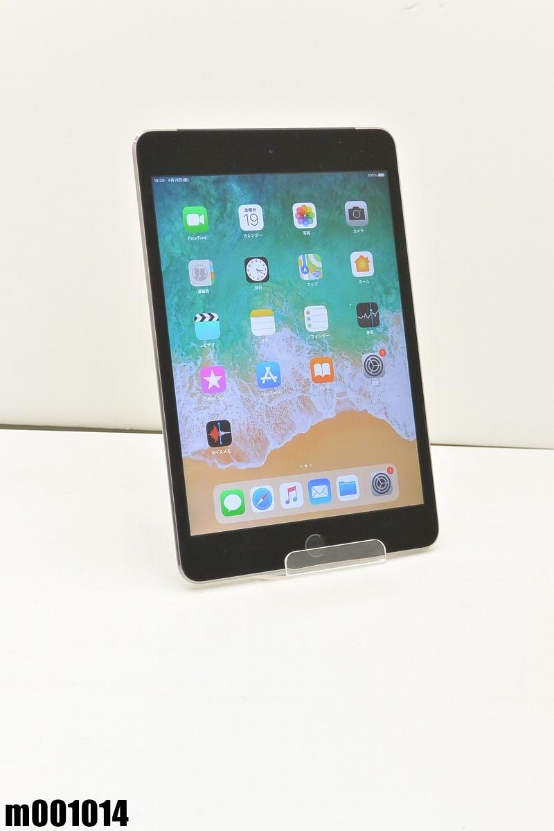 白ロム au Apple iPad mini 4+Cellular 64GB iOS12.2 Space Gray MK722J/A 初期化済 【m001014】 【中古】【K20190420】