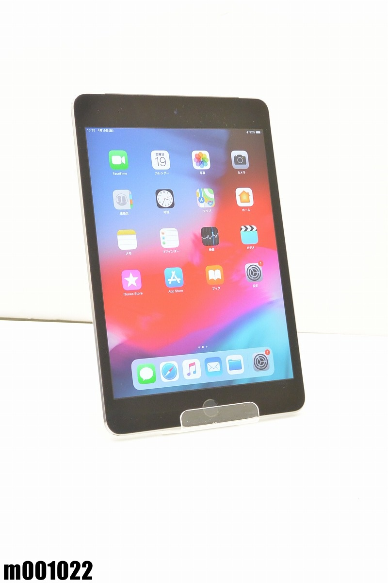 白ロム au Apple iPad mini 4+Cellular 64GB iOS12.2 Space Gray MK722J/A 初期化済 【m001022】 【中古】【K20190420】