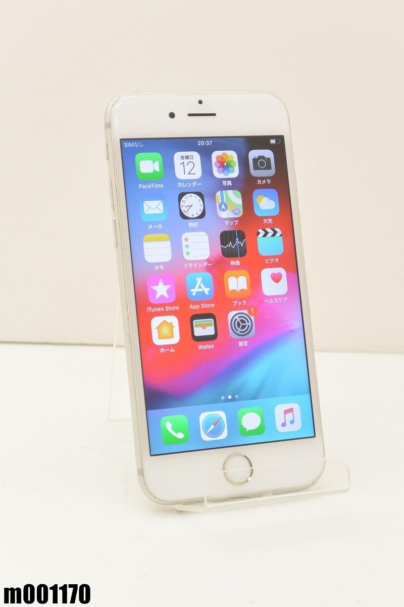 白ロム SIMロック解除済 Apple iPhone6s 16GB iOS12.2 Silver MKQK2J/A 初期化済 【m001170】 【中古】【K20190718】