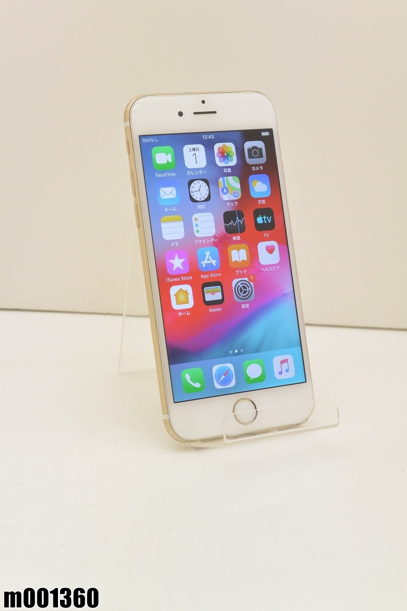 白ロム SoftBank Apple iPhone6 64GB iOS12.3 Gold MG4J2J/A 初期化済 【m001360】 【中古】【K20190606】