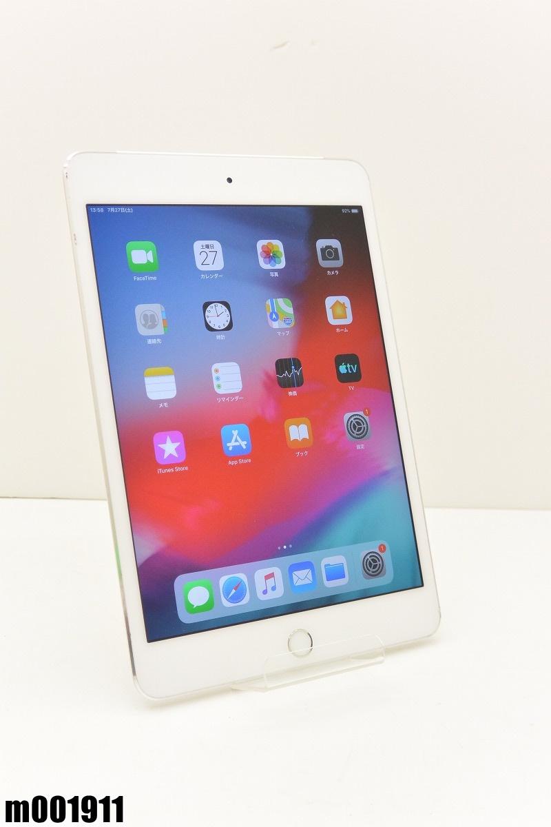 白ロム au Apple iPad mini4+Cellular 32GB iOS12.3.1 Silver MNWF2J/A 初期化済 【m001911】 【中古】【K20190730】