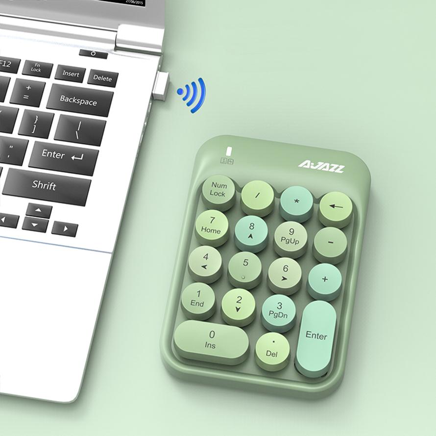 全国送料無料 ☆最安値に挑戦 テンキー ワイヤレステンキー かわいい タイプライター 経理 会計 人事 総務 エクセル 18キー 決算 軽量 コンパクト 正規激安 小型 NumLock USBレシーバー付き キーが付き ワイヤレスで持ち運びに便利