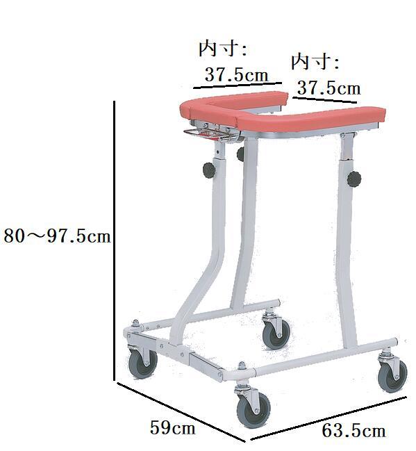 【日進医療器】折りたたみ式歩行車 四輪自在(TY157F)【送料無料】(935007)