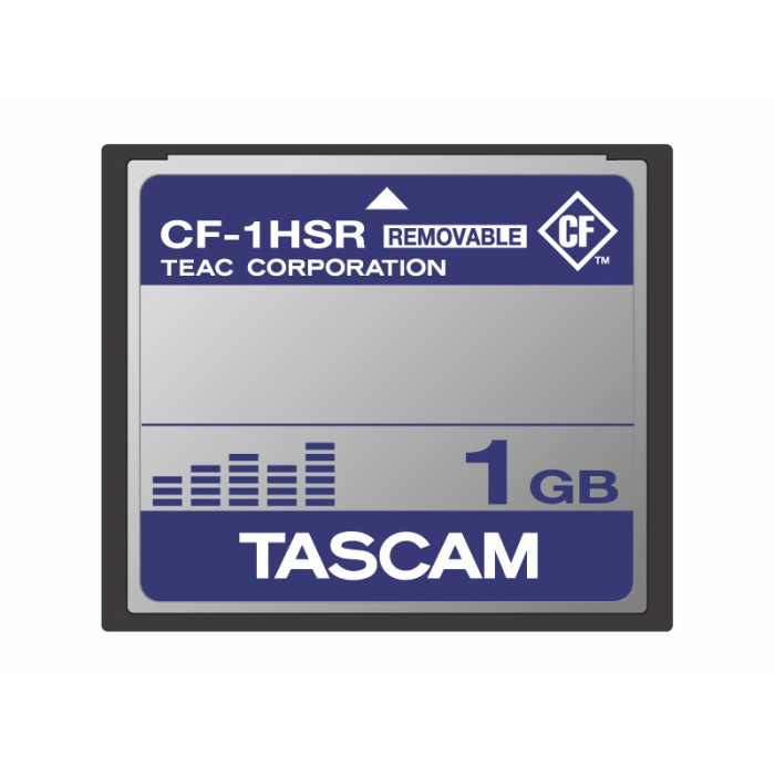 TASCAM製品での動作確認済みCFカード(1GB)CF-1HSR