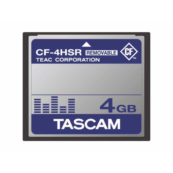 TASCAM製品での動作確認済みCFカード(4GB)CF-4HSR