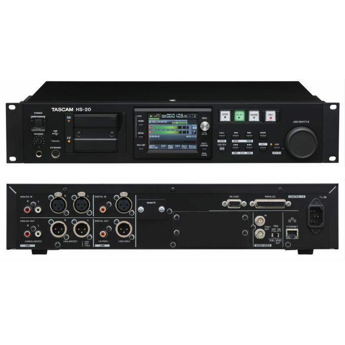 2チャンネルオーディオレコーダー/プレーヤーTASCAM HS-20