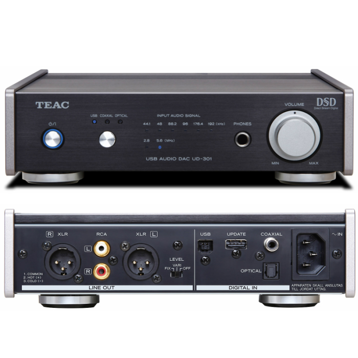 Reference 300 seriesDSD対応デュアルモノーラル USB DACTEAC UD-301-SP/B(ブラック)