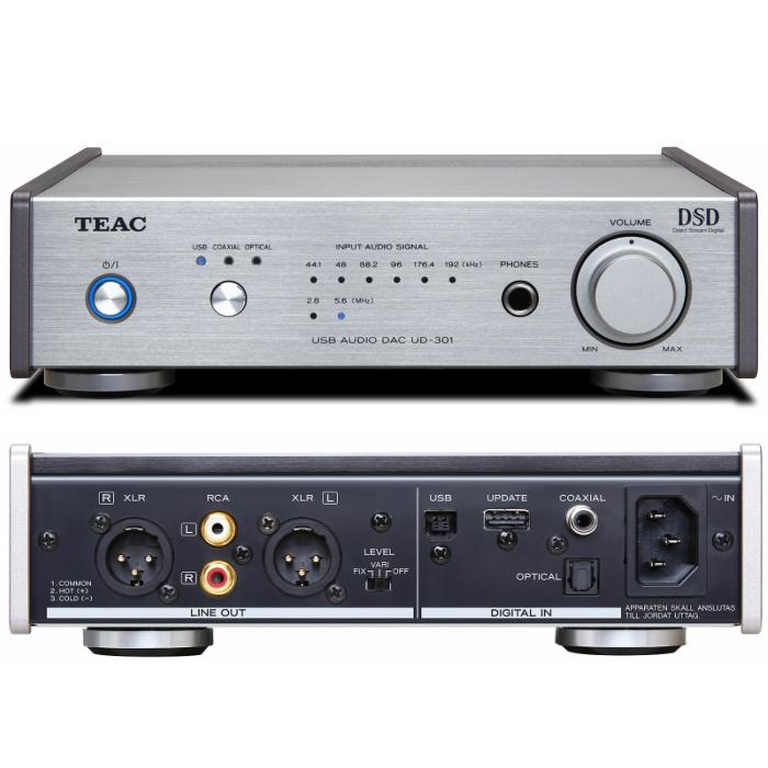 Reference 300 seriesDSD対応 デュアルモノーラル USB AUDIO DACTEAC UD-301-SP/S(シルバー)