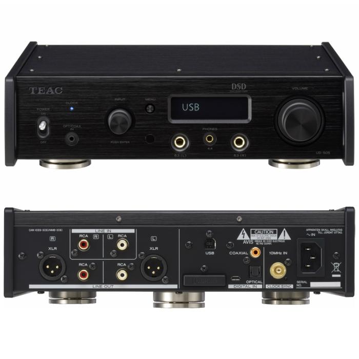 Reference 500 seriesDSD22.5MHz、PCM768kHz/32bit対応デュアルモノーラルUSB DAC/ヘッドホンアンプTEAC UD-505-B(ブラック)