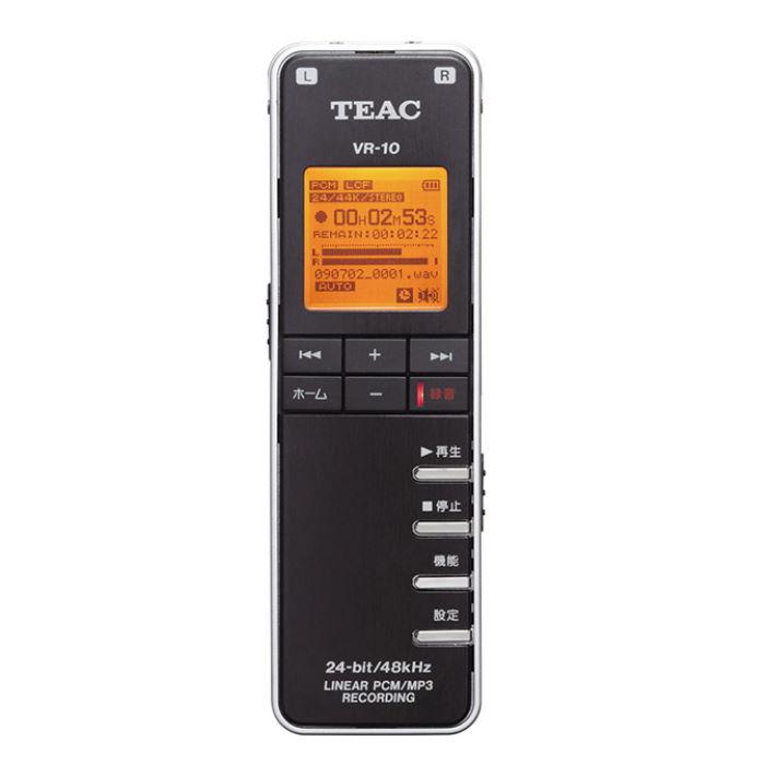 訳あり 出荷 無指向性ステレオマイク搭載24bit 48kHz対応のICレコーダー ICコーダーTEAC 新品未使用正規品 VR-10