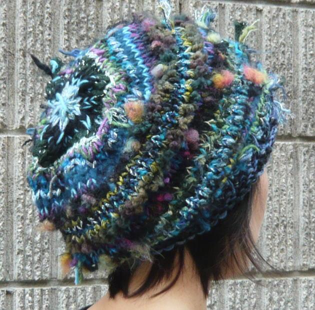 日本製 セール オリジナルの帽子を作ろう いろんな毛糸の抱き合わせで作るニット帽 数量限定販売 編み図 編みものキット 世界にひとつだけの毛糸で編む棒針編みの帽子