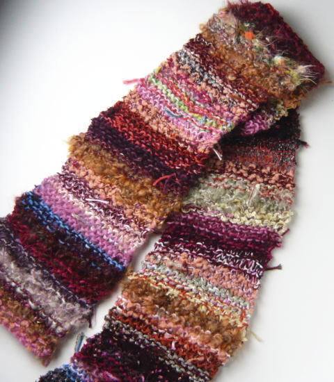 いろんな毛糸を抱き合わせたオリジナルの毛糸です 数量限定販売 世界にひとつだけの毛糸 手編み