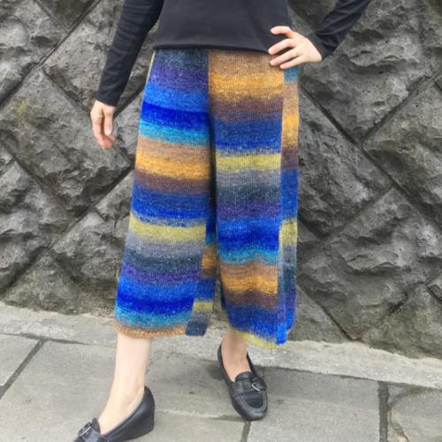●編み針セット●野呂英作のシルクガーデンファインで編むワイドパンツ 野呂英作 手編みキット