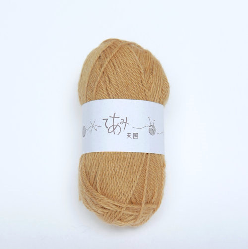 てあみ天国 アルパカ毛糸 からしいろ 編み物 手編み 推奨 アルパカ 毛糸 ペルー 並太 2020 新作