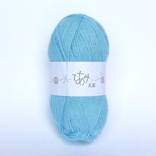 てあみ天国 アルパカ毛糸 百貨店 みずいろ 編み物 手編み 並太 毛糸 アルパカ 品質検査済 ペルー