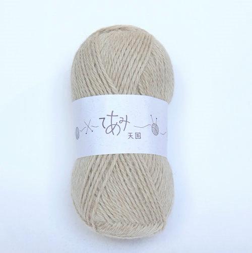 てあみ天国 商品 アルパカ毛糸 うすちゃいろ 編み物 今季も再入荷 手編み 並太 アルパカ ペルー 毛糸